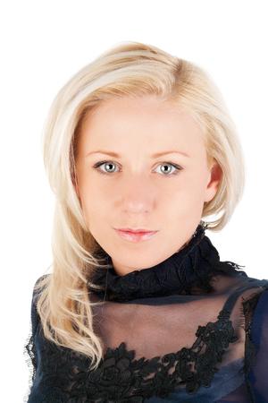 closeup image of the beautiful blond girl Stock Photo