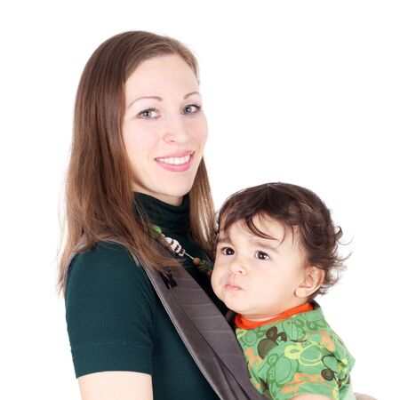 pretty young mother with her son Stock Photo