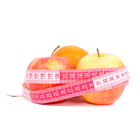 apples and orange as healthy nutrition closeup