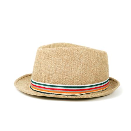 Gros plan chapeau isolé sur blanc Banque d'images - 95763253