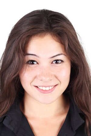 pretty young asian girl closeup Stock Photo