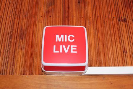 mic live sign in radio studio