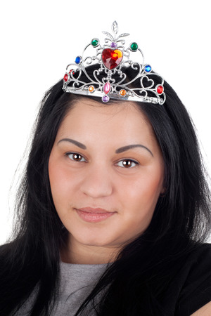 closeup image of the pretty young girl in the diadem