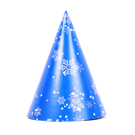 new year blue decorated cap