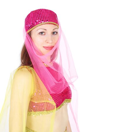 closeup image of the pretty young girl Stock Photo