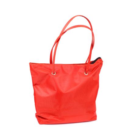 bright red comfortable bag closeup Stock Photo