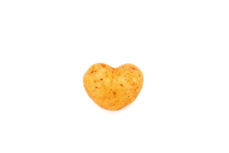 fresh potato tuber with the heart form