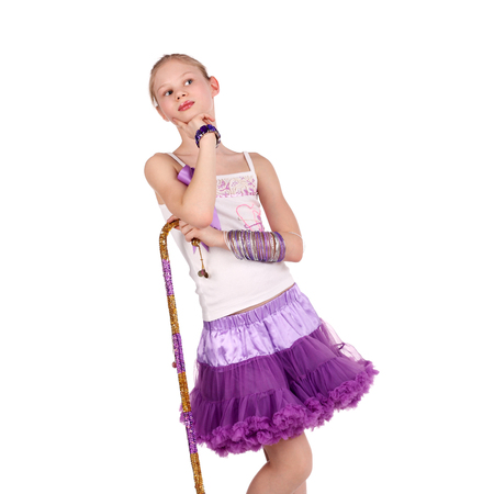 pretty little blond dancer with the cane