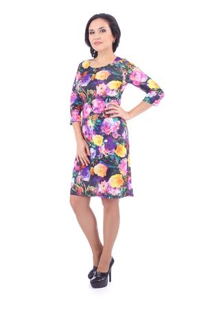 pretty young woman wearing a beautiful dress