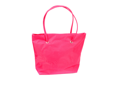 bright pink comfortable bag closeup Stock Photo
