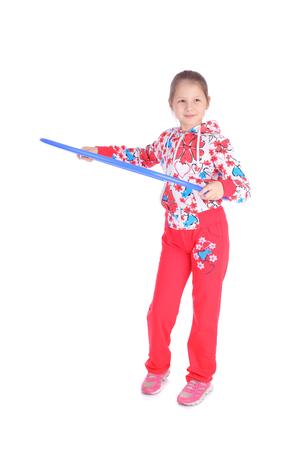 cute little gymnast girl closeup Banque d'images