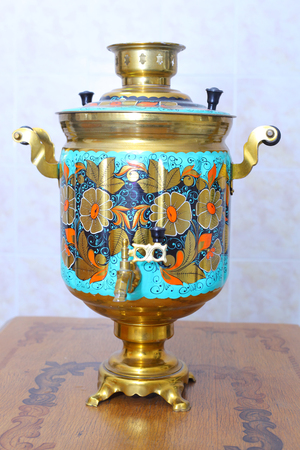 russian samovar in the kitchen
