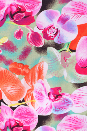 beautiful floral ornament textile background Stock Photo