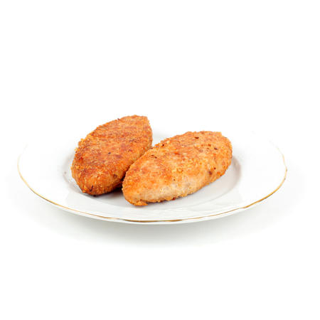 fish cakes on the white background