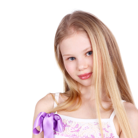 closeup image of a pretty teenage blond girl