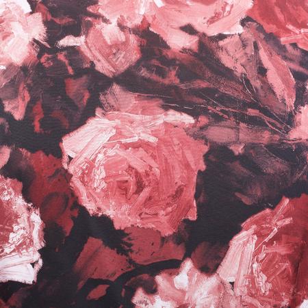 beautiful color roses floral ornament textile background Stok Fotoğraf