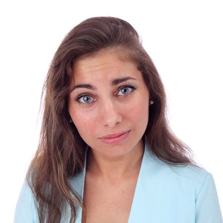 Cute young expressive girl closeup