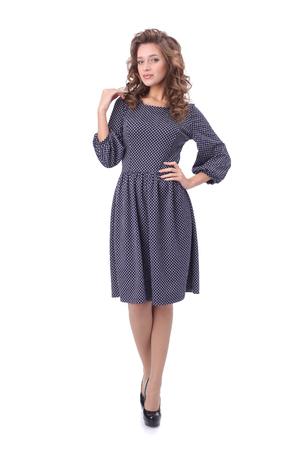 pretty young woman wearing dress Stock Photo