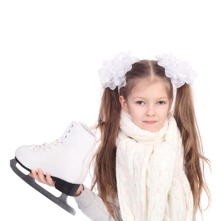 cute little girl with the white skates