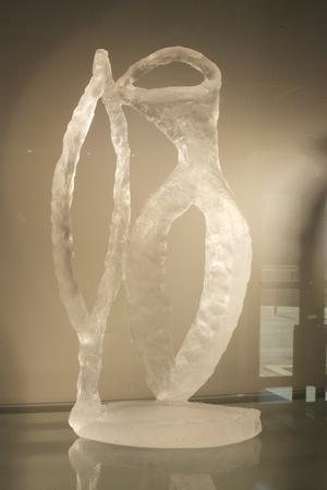 small glass piece of art