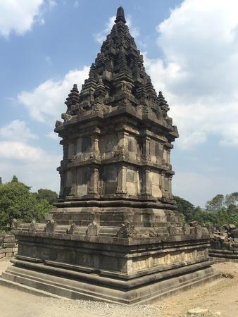 Temple near Yogyakarta on Java island, Indonesia