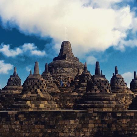 Buddhist temple Borobudur Yogyakarta Java, Indonesia