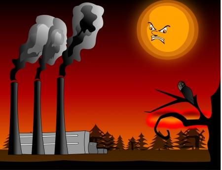 kwaśne deszcze: Zanieczyszczenie powietrza