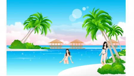 Beach Stock Vector - 18017165