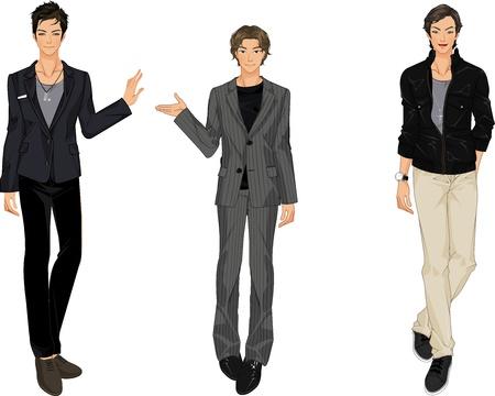 three vector men Illustration