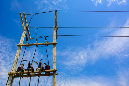 electric grid: Light poles for installation of transformers
