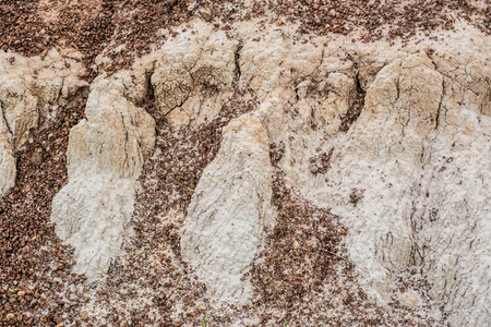 deforested: This groove soil caused by water flow Stock Photo