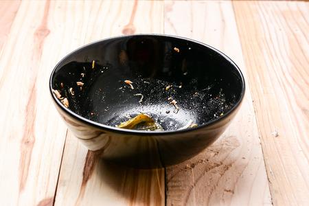 free dish: Black bowl have Food stains. photo taken:12 jul 2015