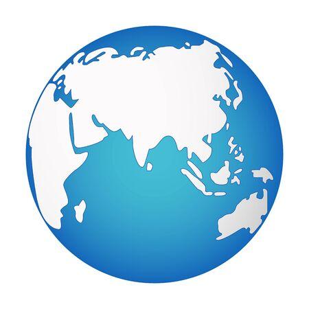 Icona di Gobe isolato su sfondo bianco. Illustrazione vettoriale.