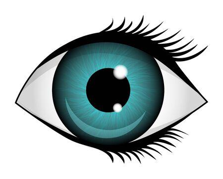 Icona dell'occhio isolato su uno sfondo bianco. Illustrazione vettoriale. Vettoriali