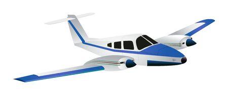 Jet simpatico cartone animato isolato su sfondo bianco. Illustrazione vettoriale.