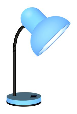 Cute cartoon desk lamp isolated on a white background. Vector illustration. Ilustrace