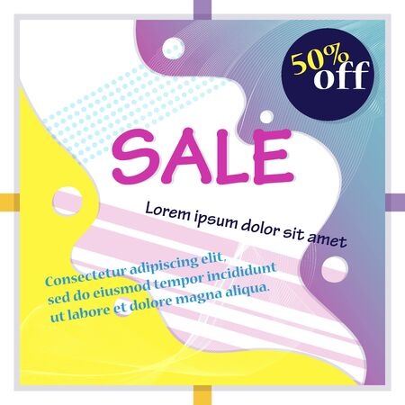 Big sale banner. Sale and discounts. Flat style. Vector illustration