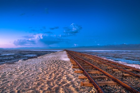 Chaka Salt Lake tracks