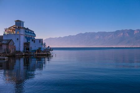 Morning of erhai Lake