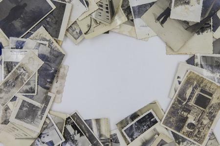昔のロゴまたは本文のスペースの写真をスタックします。