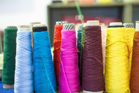 Colorful yarn close up view 版權商用圖片