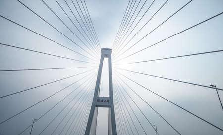 上海、中国の Minpu 橋でビュー