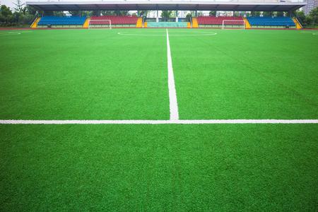 View of a football field 版權商用圖片