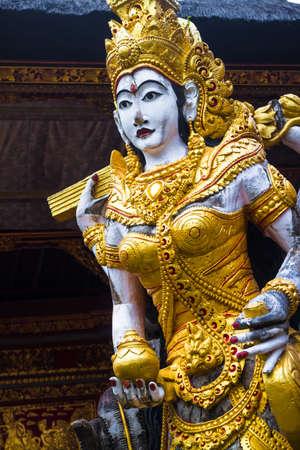 Statue in a temple 版權商用圖片
