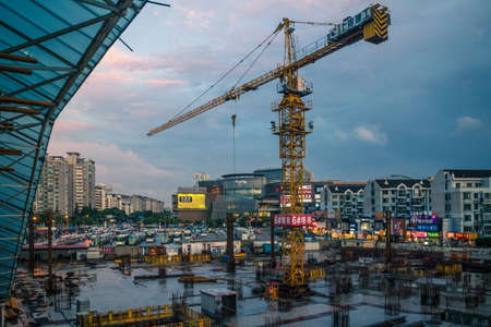 View of construction site in the city