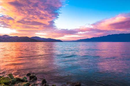 Beautiful sunrise scenery landscape view 版權商用圖片