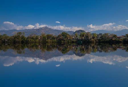 Beautiful scenery with lake reflection