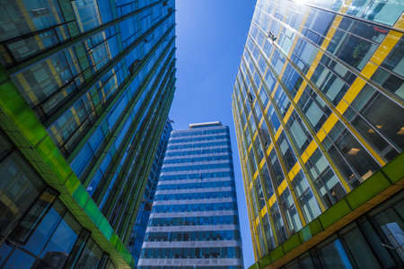 View of modern buildings in urban city