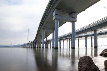 Shenzhen Bay Bridge 版權商用圖片