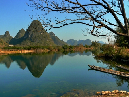The area around small town Yangshuo in China is renowned for its karst landscape where there are hundred upon hundred of limestone hills dotting the countryside.